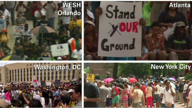 Thousands protest Zimmerman verdict
