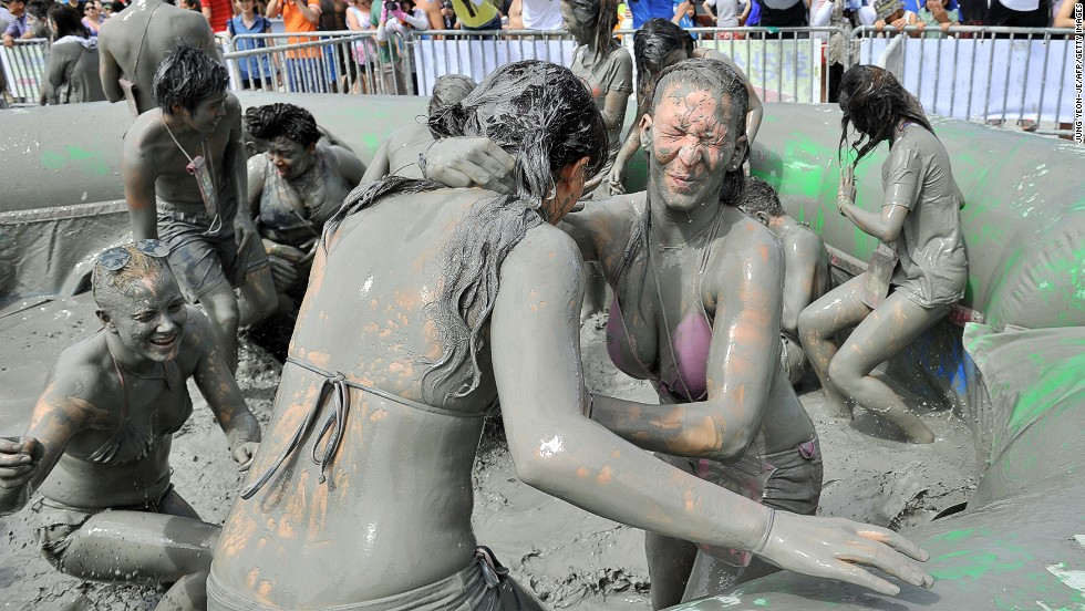 "Thanks to the mud festival, local beaches ""are so full of foreign tourists that one could mistake them for Europe or the United States,"" reported local news agency Yonhap."