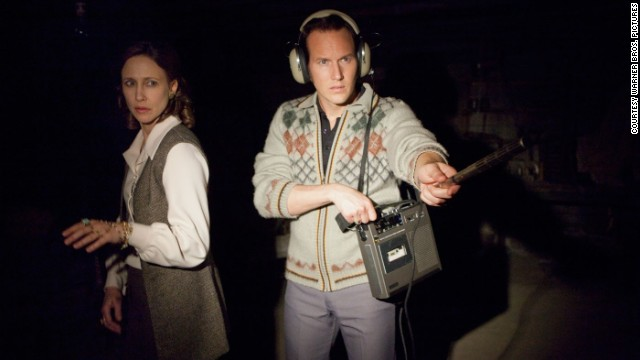 "Vera Farmiga stars as Lorraine Warren and Patrick Wilson stars as Ed Warren in ""The Conjuring."""