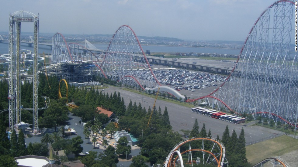 18. Check out the Steel Dragon roller coaster at Nagashima Spa Land in Japan.