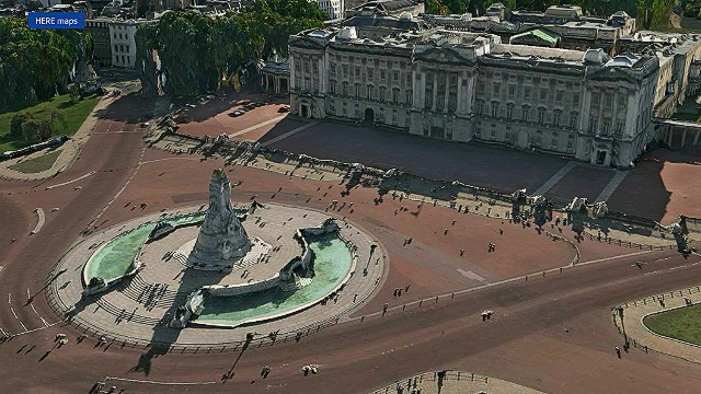 3D rendering of Buckingham Palace in London