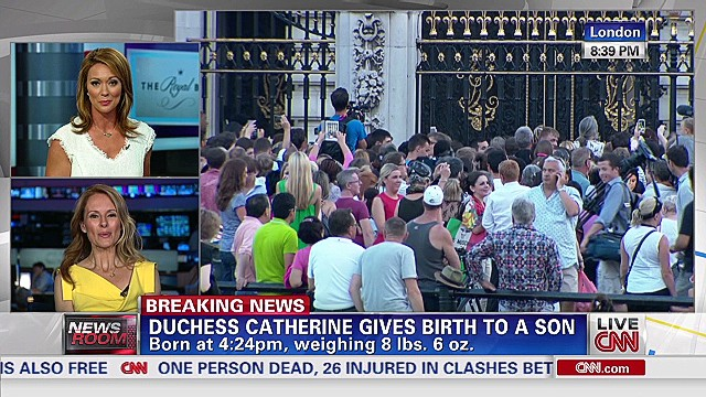 Royal baby excitement