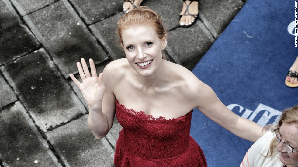 Jessica Chastain attends the 2013 Giffoni Film Festival Blue Carpet in Giffoni Valle Piana, Italy.