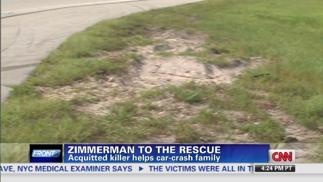 Zimmerman helps family
