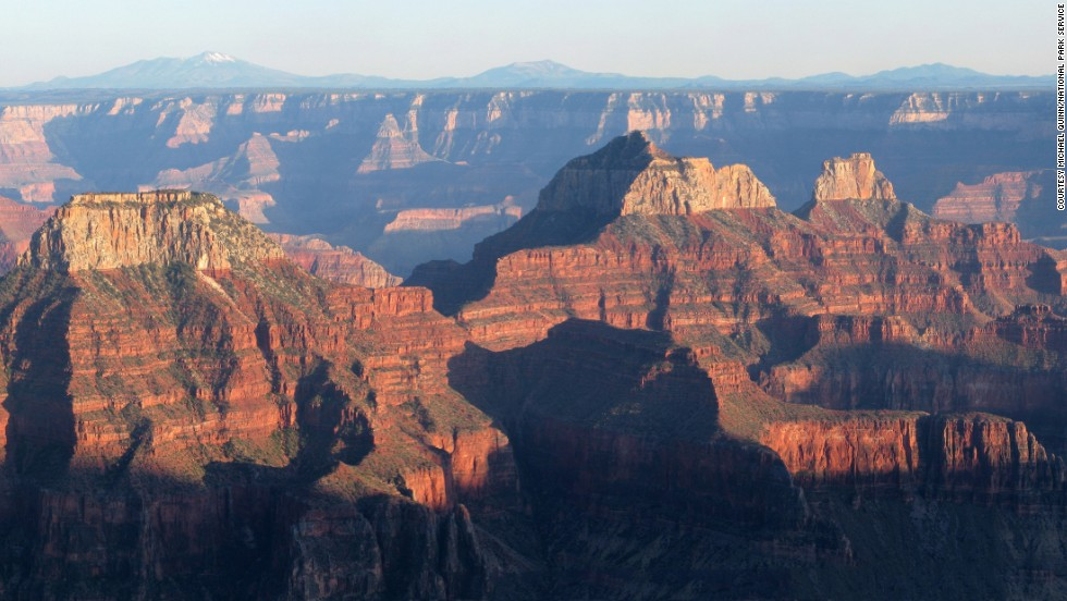 Because of high winds and heavy snow, the North Rim's Bright Angel Point is only open from May 15 to October 15.
