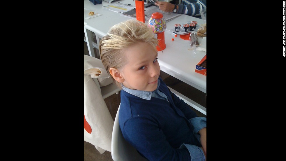 "Jodi Nelson Call, who runs the ""Pistols and Popcorn"" blog sent this photo of her son, Roan, a fashion model."