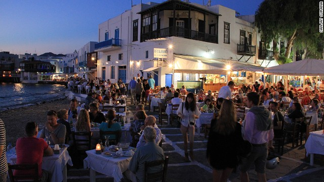 Mykonos: Noise and nudity.