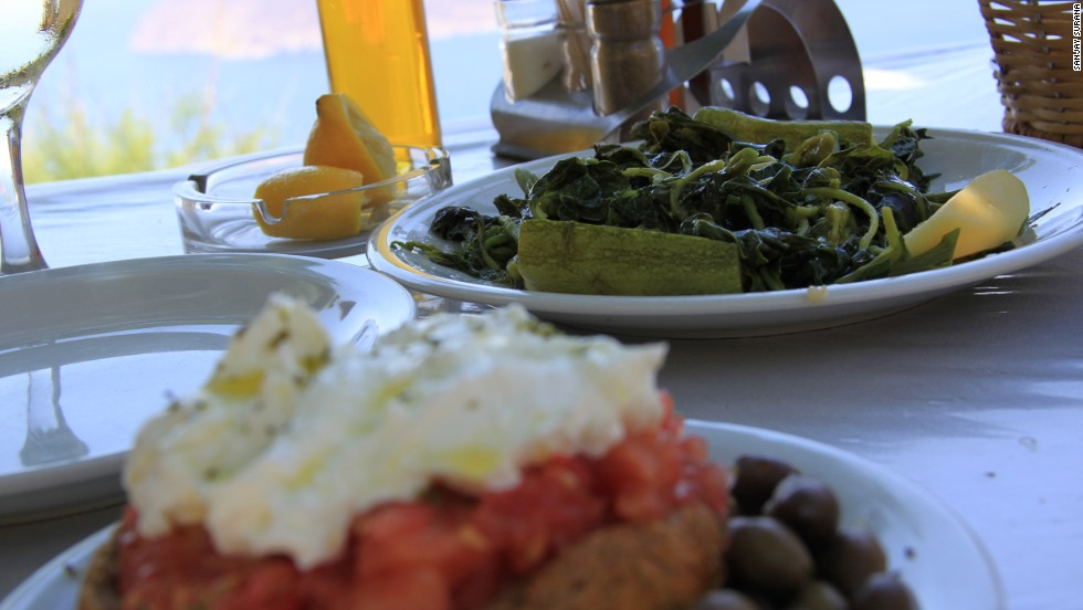 Eat at a traditional taverna (even a touristy one) or kafenio (Greek café) and you'd be hard pushed to have a bad meal, because the raw ingredients are so darned good on Crete.