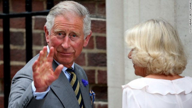 Prince Charles, Prince of Wales and Camilla, Duchess of Cornwall arrive to visit Prince William, Duke of Cambridge and Catherine, Duchess of Cambridge and their newborn son at St Mary's Hospital on July 23, 2013 in London, England.