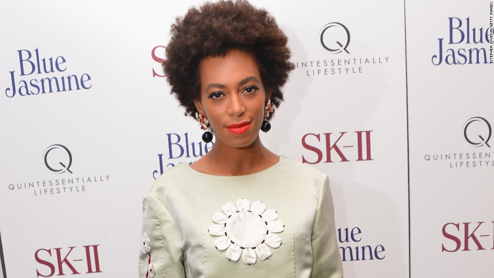Solange Knowles attends the 'Blue Jasmine' New York Premiere at MOMA in New York City.