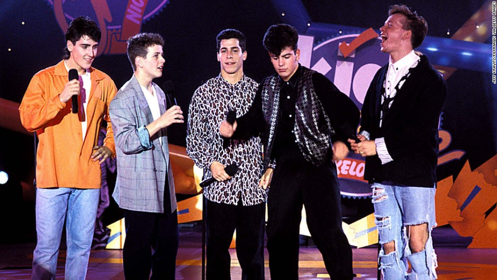 "New Kids on the Block was one of the heartthrob boy bands of the late '80s and early '90s. Jordan Knight, Jonathan Knight, Joey McIntyre, Donnie Wahlberg and Danny Wood all hail from the Boston area. The group came off a lengthy hiatus in 2008, issuing three albums since then, and <a href=""http://www.cnn.com/2015/01/21/entertainment/feat-nkotb-tlc-nelly-tour/"">touring in the summer of 2015</a>."