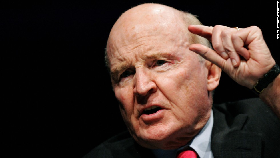 "Jack Welch, former CEO of General Electric, was born in Peabody, Massachusetts, and resides in Boston. He stepped down as the chairmen and CEO of GE in 2001. The media nicknamed him ""Neutron Jack"" for his no-nonsense, take-no-prisoners approach to business. In 2007, he made a failed attempt -- with other investors -- to buy the Boston Globe."