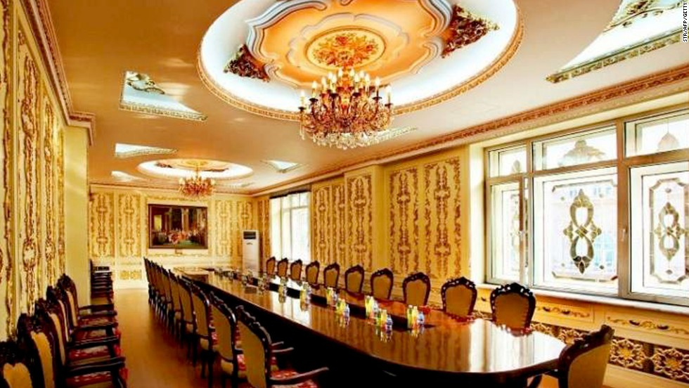 A stately table in an office belonging to the state-owned Harbin Pharmaceutical Group Sixth factory in China's Heilongjiang province.
