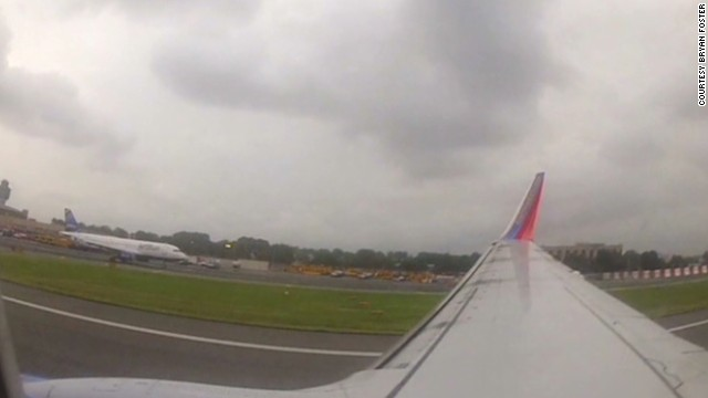 See video from inside the Southwest jet