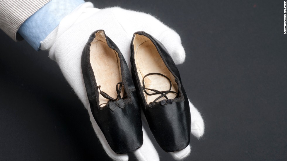 These shoes, from 1843, belonged to Princess Alice, the third child of Queen Victoria.