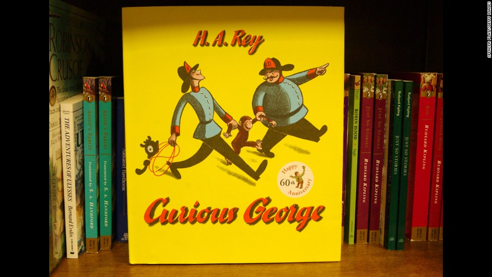 Curious George: The monkey protagonist of a children's book series by the same name. The franchise has expanded to television and the big screen.