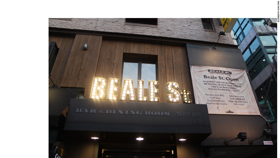 Beale St. serves American-style barbecue in Hongdae, one of Seoul's trendiest districts.