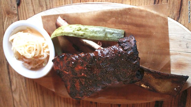 Beale St. short ribs are smoked for six hours.