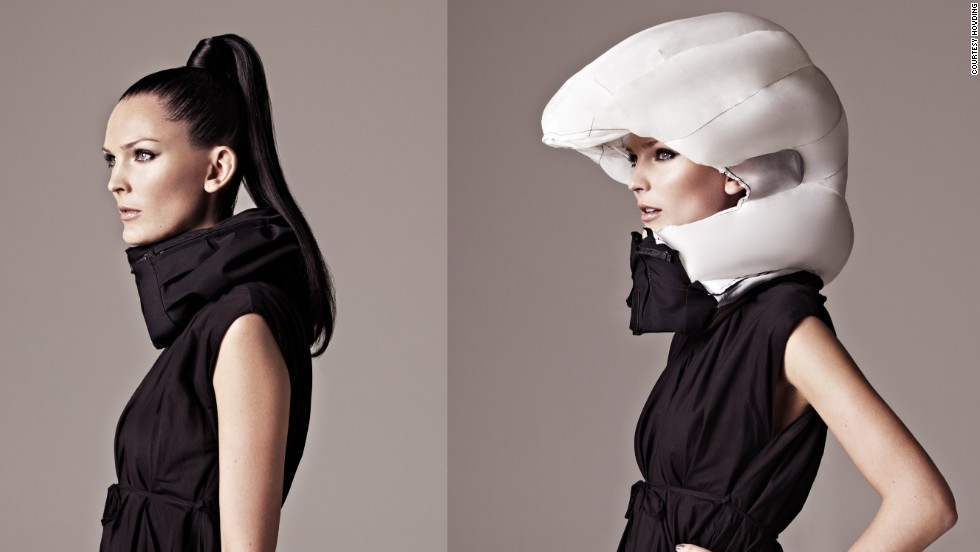 "It's a love/hate thing. The cycling helmet can save your life, but it doesn't look good and tends to ruin your hair. Thankfully the future offers a solution -- the <a href=""http://www.hovding.com/en/"" target=""_blank"">Hövding</a>. A Swedish creation, the Hövding is an ""airbag for cyclists"". It's worn as a collar and only expands into a full helmet if you have an accident."