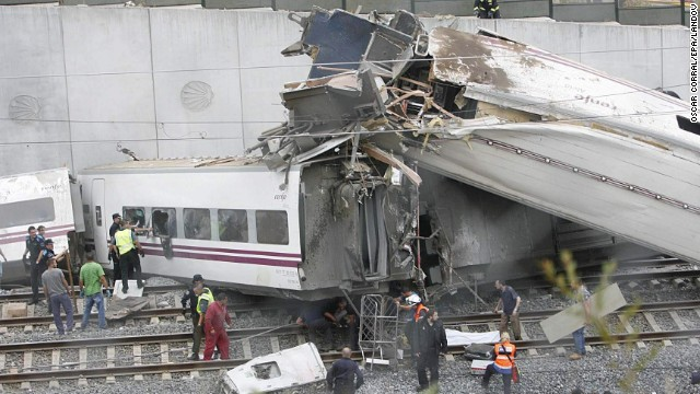 High-speed train derails in Spain