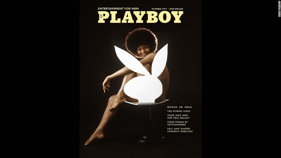 "In October 1971, American model Darine Stern made history by becoming the first black woman to appear by herself on the cover of Playboy. It was considered controversial at a time when black women rarely graced the covers of major magazines. The iconic image went on to inspire Playboy's <a href=""http://www.cnn.com/2009/SHOWBIZ/TV/10/12/marge.simpson.playboy/index.html"">November 2009 cover</a> that featured Marge Simpson as the magazine's first cartoon cover model."