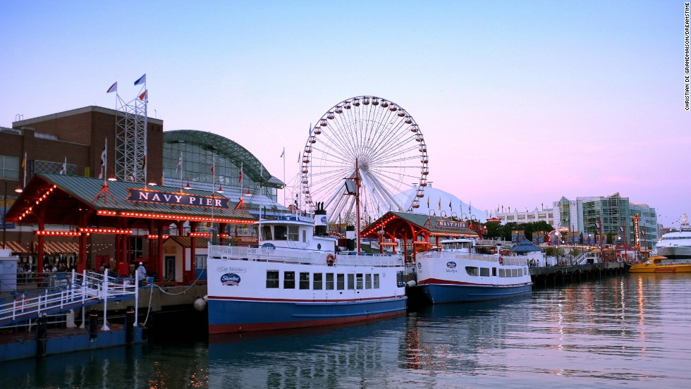 Who says a boardwalk has to be by the ocean? Chicago's Navy Pier is on Lake Michigan.