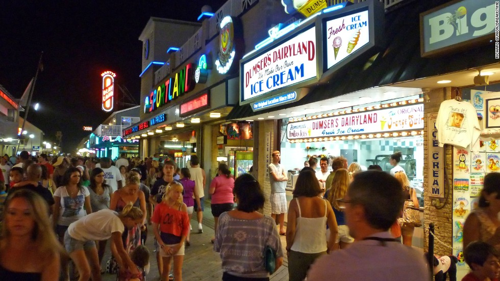 Ocean City's boardwalk is a beauty day or night.