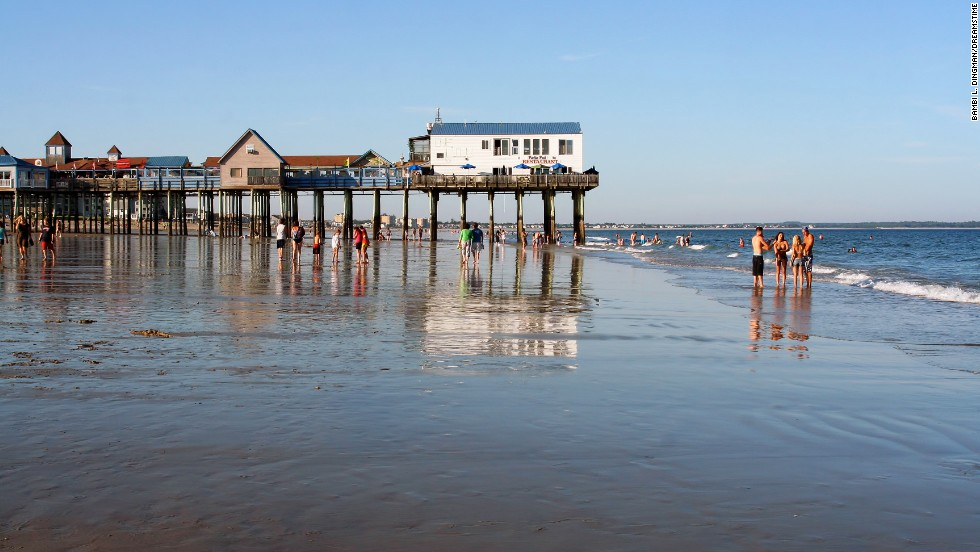 Rides, shops, and seafood make Old Orchard Beach a popular, and unusual, Maine destination.