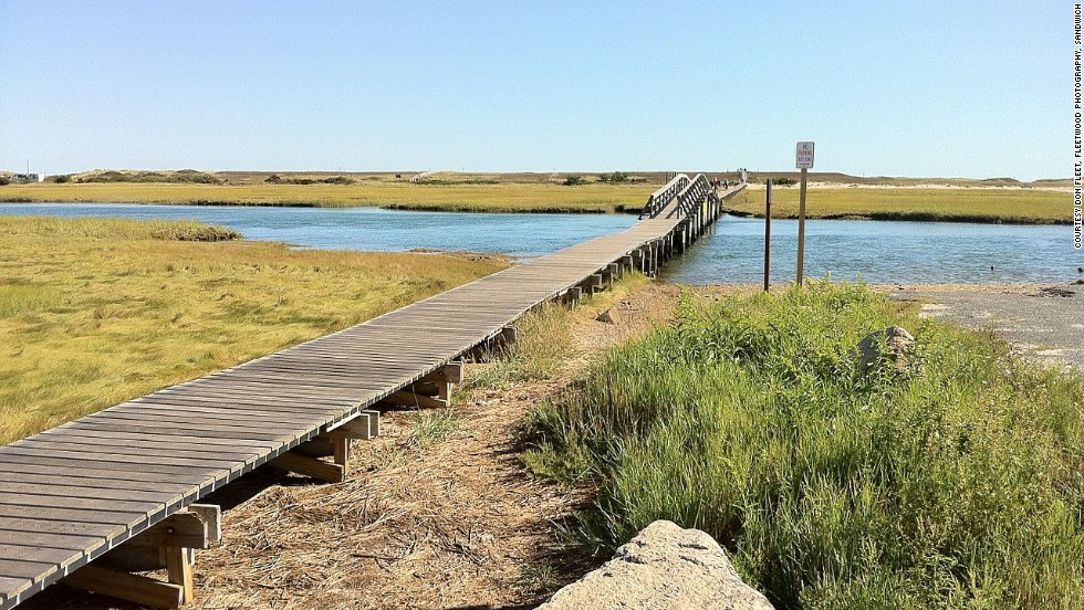 "A far cry from the thrill rides and arcade games, the ""boardwalk"" in Sandwich, Massachusetts, is perfect for strolling by the water."