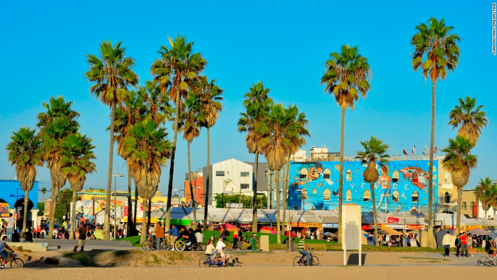 The boardwalk at Venice Beach is officially named Ocean Front Walk, but nobody calls it that.