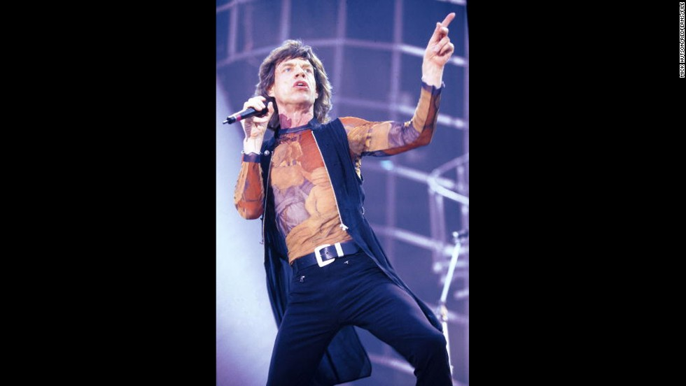 In 1995, Jagger was past 50 -- but you wouldn't have known it judging from his look.