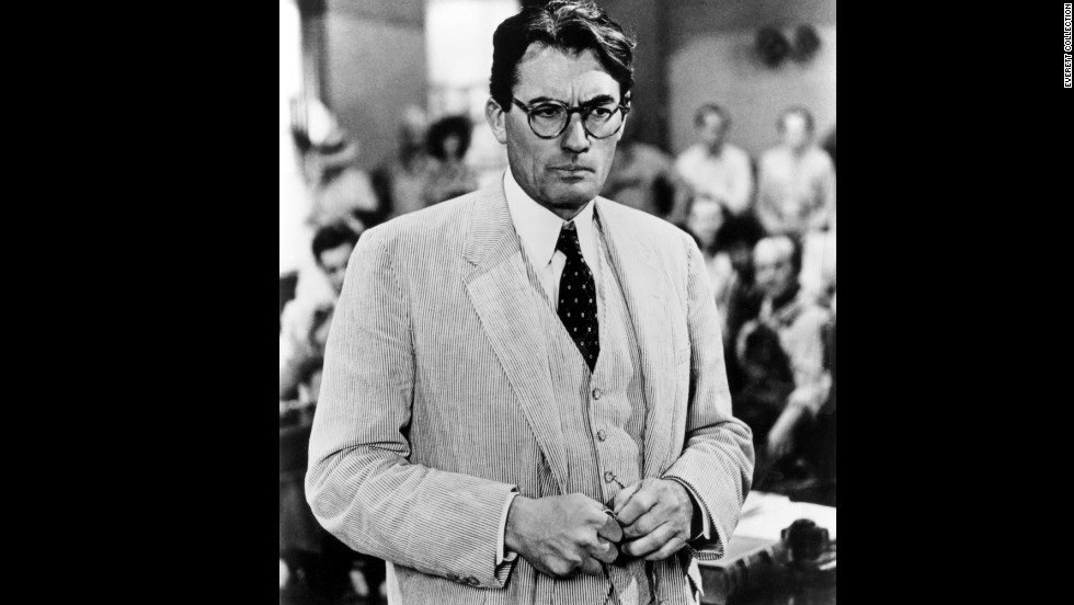 "Gregory Peck cut a striking figure in a Haspel seersucker suit in ""To Kill a Mockingbird,"" 1962."