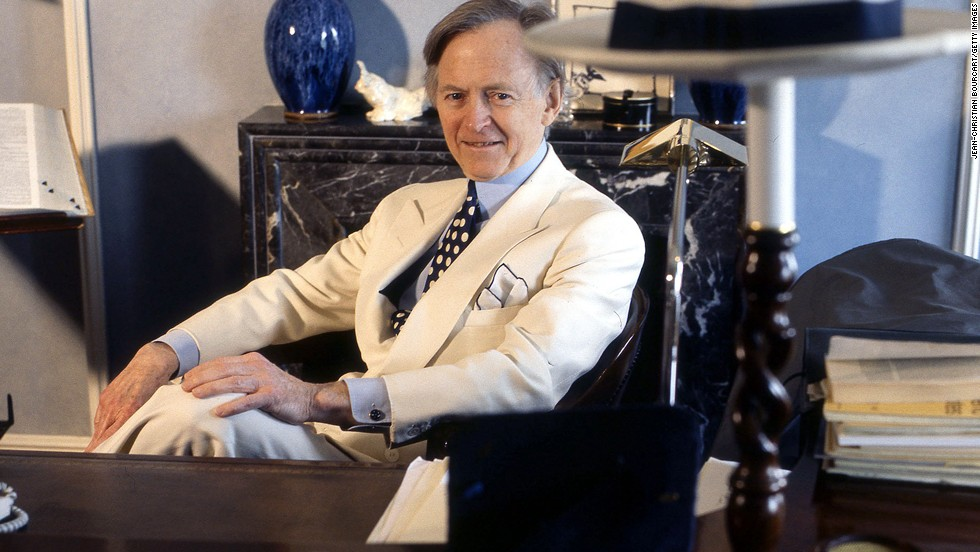 Tom Wolfe, seen here in 1997, helped define the preppie fashion aesthetic, of which seersucker is a staple fabric.