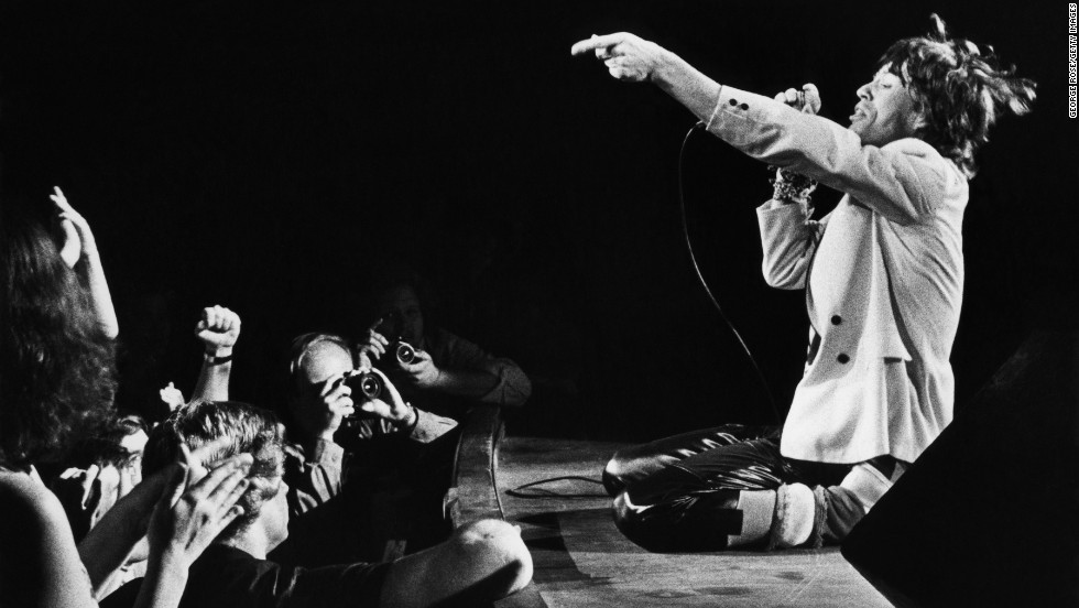 Mick Jagger performs in 1980 at the Fox Theatre in Atlanta.