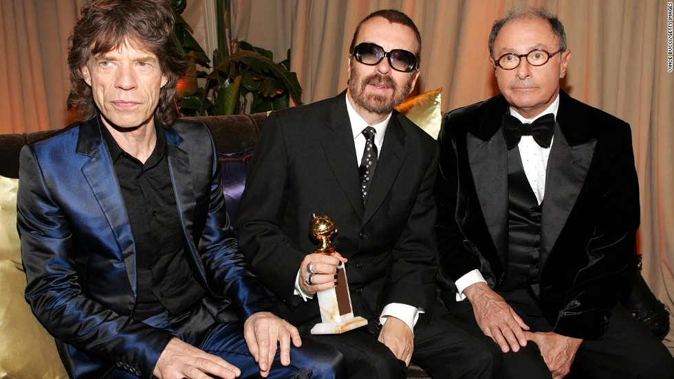 Mick Jagger, David A. Stewart and Variety editor-in-chief Peter Bart attend a 2005 Golden Globes after-party at Trader Vics in Beverly Hills, California. In 2011, Jagger and Stewart, best known for his work with the Eurythmics, formed a supergroup called Super Heavy with Joss Stone, Damian Marley and A.R. Rahman.