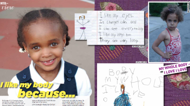 The first issue of Interrupt magazine asks 8-year-old girls what they like about their bodies.