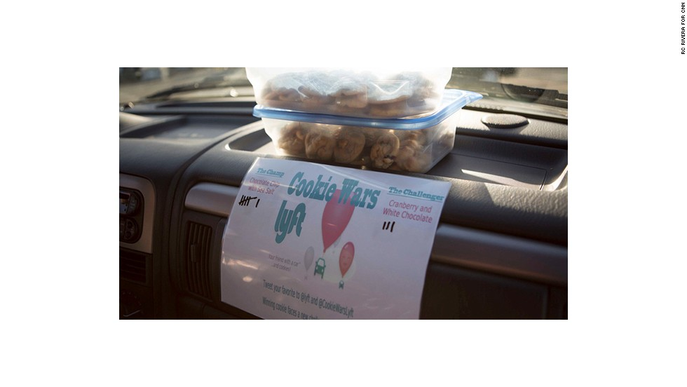 Aspiring entrepreneur Chris Biggs bakes fresh cookies and lets riders vote on their favorite. Chocolate chip with sea salt is a frequent winner.