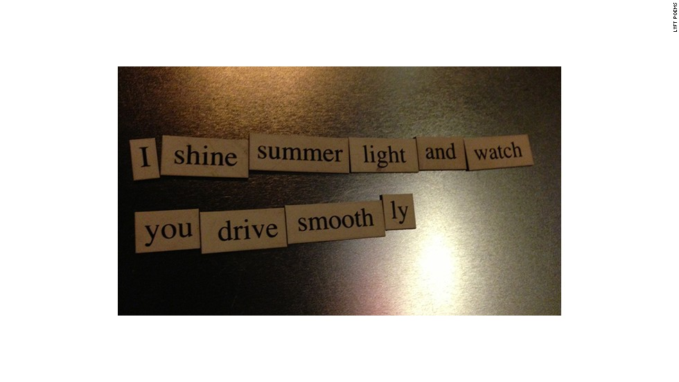 One Los Angeles based Lyft driver takes photos of the poems riders create with a magnetic poetry kit and posts them to a Tumblr.