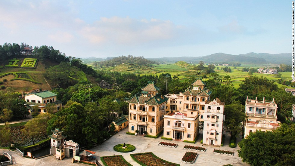 In 1936, wealthy businessman Weili Xie built Li Garden, Kaiping's most iconic diaolou complex.