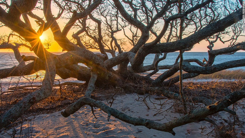 Pamlico Sound is one of the few places on the East Coast where people can watch the sun set over a body of water.
