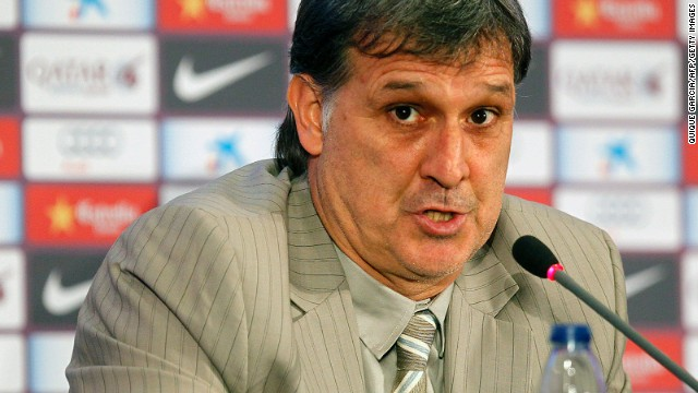 Gerardo Martino talked of his ambitions after taking over as the new Barcelona manager.