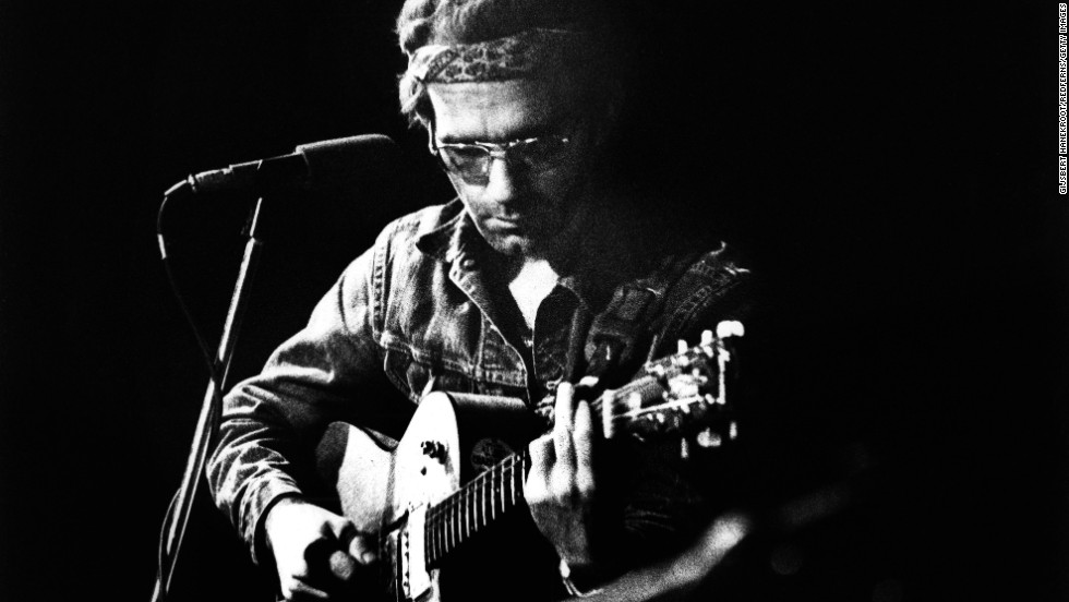 "Musician JJ Cale died Friday, July 26, <a href=""http://www.cnn.com/2013/07/27/showbiz/jj-cale-obit/index.html"" target=""_blank"">after suffering a heart attack</a>. He was 74. Above, Cale performs at the Carre Theatre in Amsterdam in 1973."