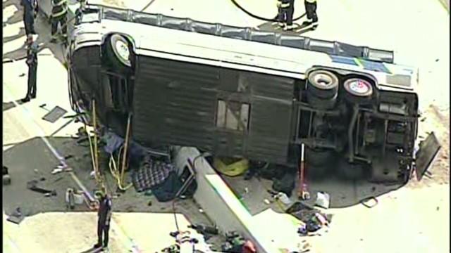 Nine remain in hospital after bus crash