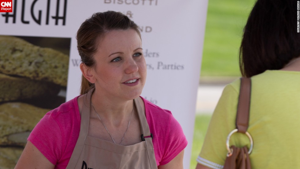 To help promote her business, Vu secured a spot at a farmers' market in Dayton. Being at the market brings her close to customers who tell her what they like about her biscotti and what flavors they'd like to see.