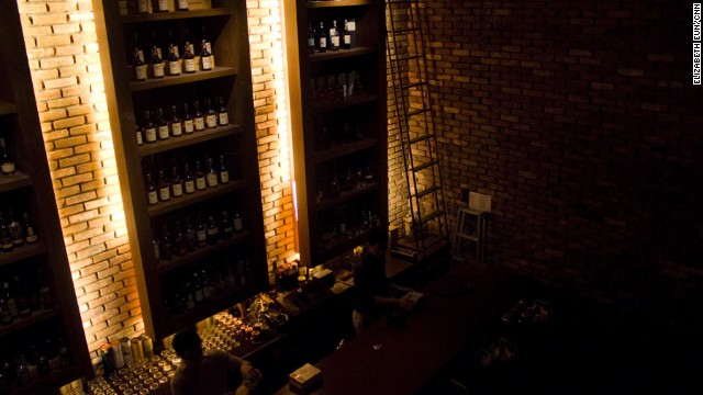 The menu at Vault +82 features spirits from around the world.