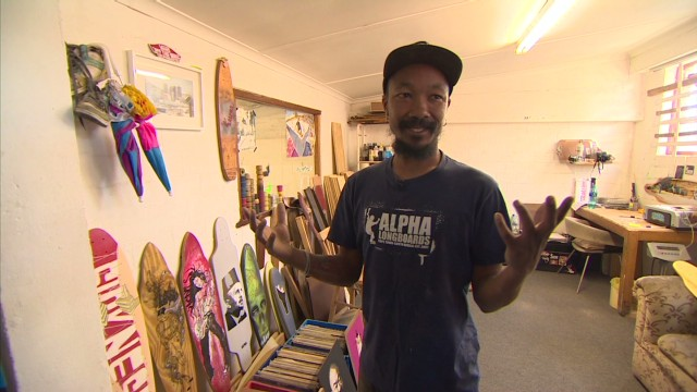 South Africa's skateboard art