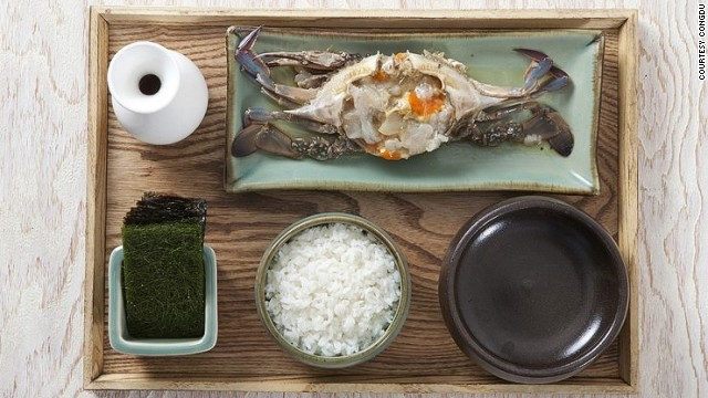 If you love soy sauce crab, you'll appreciate Congdu's version,  made with Korean blue crab.