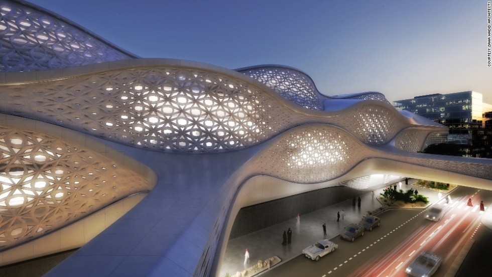 OK, so it's not actually built yet, but Riyadh's new metro system is set to be pretty spectacular once it is. Construction will begin next year on the King Abdullah Financial District station (pictured) designed by Zaha Hadid Architects.