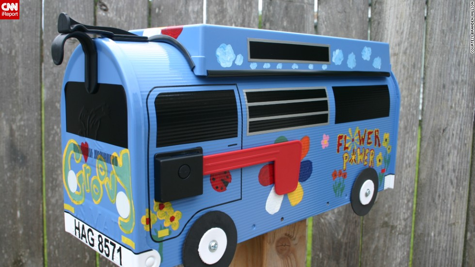 "<a href=""http://ireport.cnn.com/topics/1011758"">Branden Willson</a> designs custom mailboxes to look like vintage Volkswagen buses."