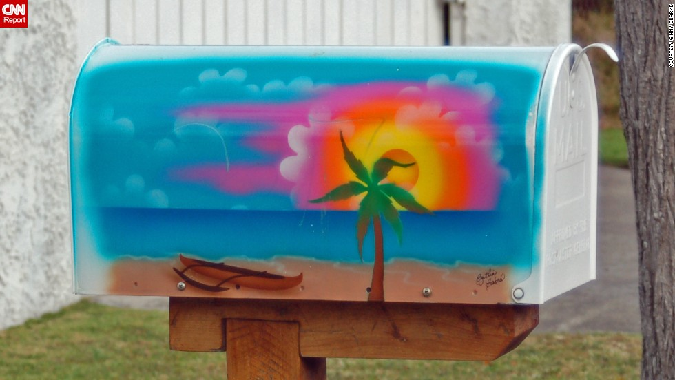 "In her neighborhood on Oahu in Hawaii, <a href=""http://ireport.cnn.com/docs/DOC-1012058"">Ginny Clarke</a> took note of colorful mailboxes such as this one."